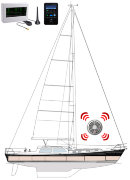 RovEL Sailboat Sirena plus Flashing Light